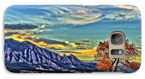 Galaxy Case featuring the photograph Fall Over The Flatirons by Scott Mahon