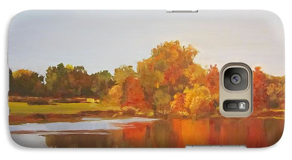 Galaxy Case featuring the painting Fall Perfection by Elizabeth Carr