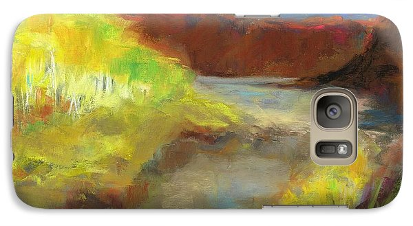 Galaxy Case featuring the painting Fall Ponds by Frances Marino