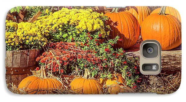 Galaxy Case featuring the photograph Fall Pumpkins by Carolyn Marshall