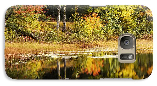 Galaxy Case featuring the photograph Fall Reflection by Chad Dutson