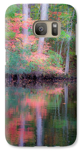 Galaxy Case featuring the photograph Fall Reflections by Bob Decker
