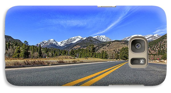 Galaxy Case featuring the photograph Fall River Road With Mountain Background by Peter Ciro