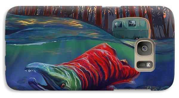 Salmon Galaxy S7 Case - Fall Salmon Fishing by Sassan Filsoof