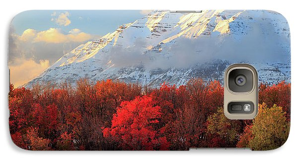 Galaxy Case featuring the photograph Fall Snow On Timpanogos. by Johnny Adolphson