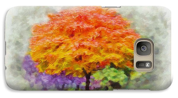 Galaxy Case featuring the painting Fall Tree by Greg Collins