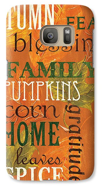 Fall Typography 1 Galaxy S7 Case by Debbie DeWitt