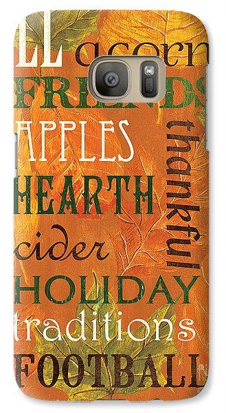 Pumpkin Galaxy S7 Case - Fall Typography 2 by Debbie DeWitt