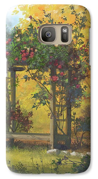 Galaxy Case featuring the painting Fall Yellow by Michael Humphries