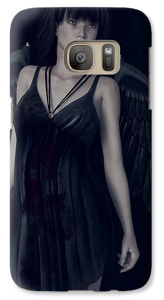 Galaxy Case featuring the painting Fallen Angel - Dark And Gothic by Maynard Ellis