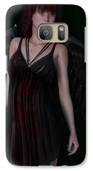 Galaxy Case featuring the painting Fallen Angel by Maynard Ellis
