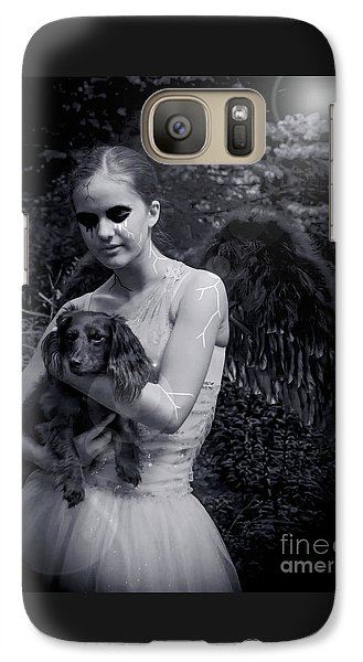 Galaxy Case featuring the photograph Fallen Angel by Rebecca Margraf
