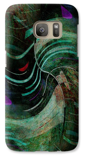 Galaxy Case featuring the digital art Fallen Angle by Sheila Mcdonald