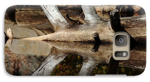 Galaxy Case featuring the photograph Fallen Tree Mirror Image by Debbie Oppermann