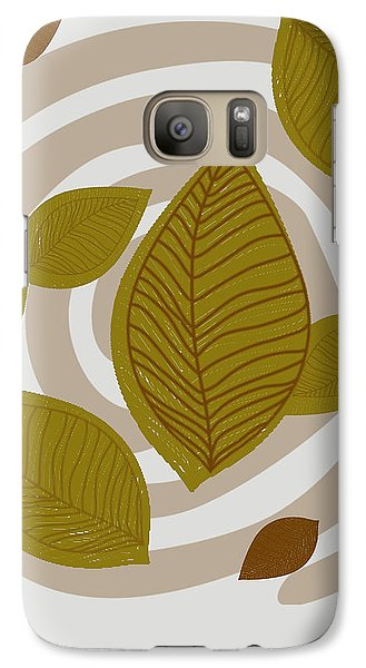 Galaxy Case featuring the drawing Falling Leaves by Kandy Hurley