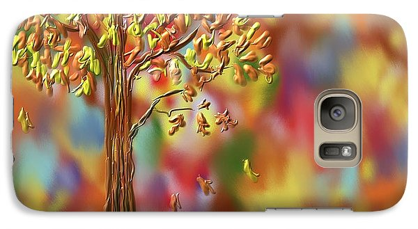 Galaxy Case featuring the painting Falling Leaves by Kevin Caudill