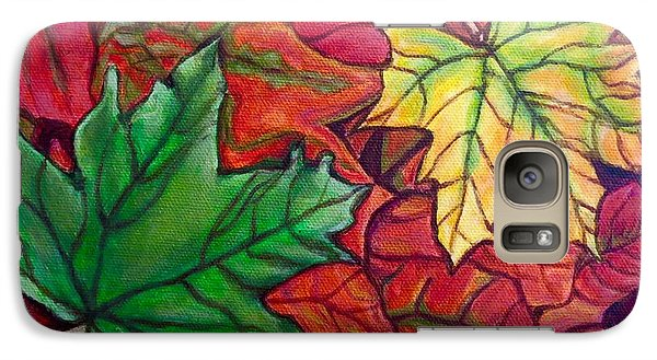 Galaxy Case featuring the painting Falling Leaves I Painting by Kimberlee Baxter