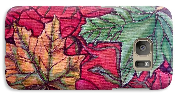 Galaxy Case featuring the painting Falling Leaves Two Painting by Kimberlee Baxter