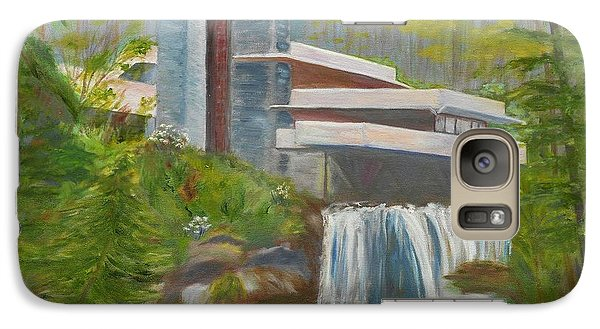 Galaxy Case featuring the painting Falling Water by Jamie Frier