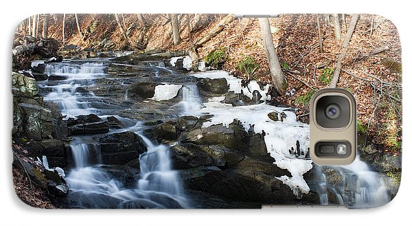 Galaxy Case featuring the photograph Falling Waters In February #1 by Jeff Severson