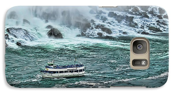 Galaxy Case featuring the photograph Falls Boat by Traci Cottingham