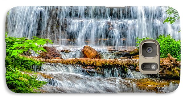 Galaxy Case featuring the photograph Falls On Sable Creek by Nick Zelinsky