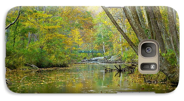Galaxy Case featuring the photograph Falls Road Bridge Over The Gunpowder Falls by Donald C Morgan