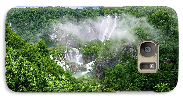 Falls Through The Fog - Plitvice Lakes National Park Croatia Galaxy S7 Case