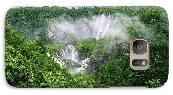 Falls Through The Fog - Plitvice Lakes National Park Croatia Galaxy S7 Case