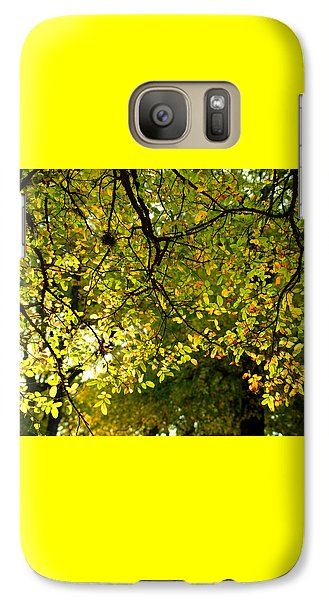 Galaxy Case featuring the photograph Fall's Unique Light by Karen Musick