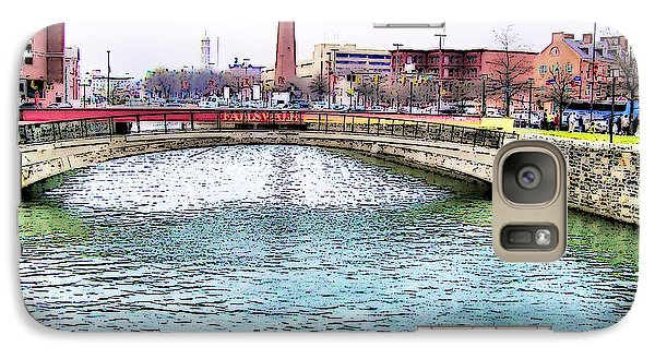 Galaxy Case featuring the photograph Fallswalk And Shot Tower by Brian Wallace