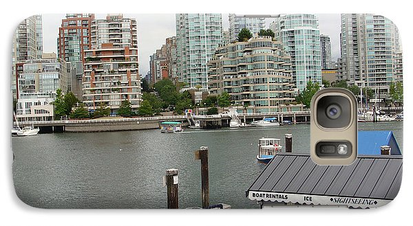 Galaxy Case featuring the painting False Creek Vancouver by Rod Jellison