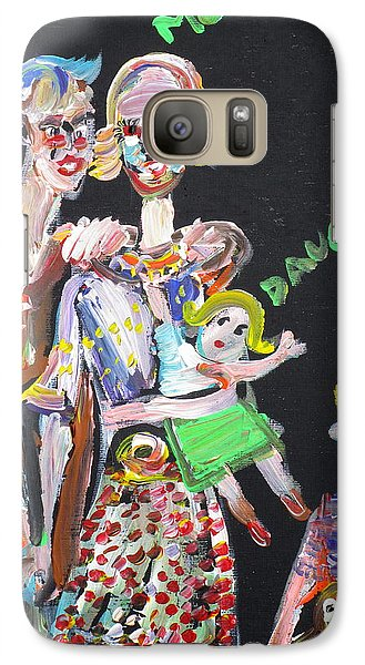 Galaxy Case featuring the painting Family Day by Fabrizio Cassetta