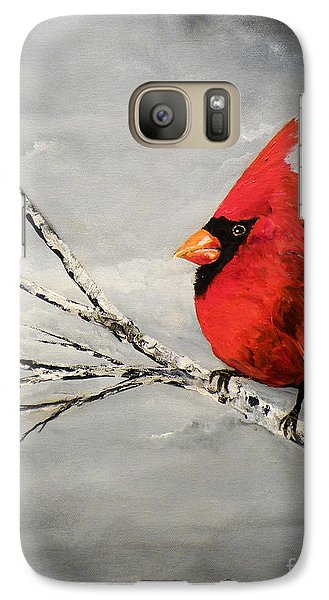 Galaxy Case featuring the painting Family Man by Chad Berglund
