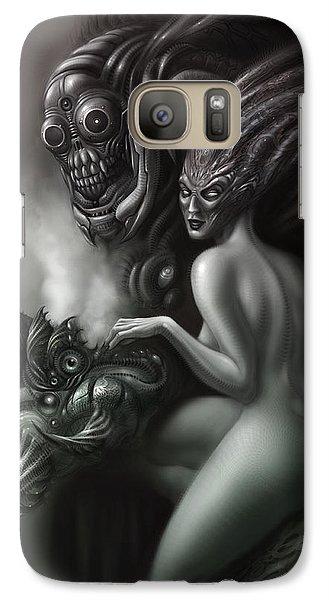 Aliens Galaxy S7 Case - Family Portrait by Alex Ruiz