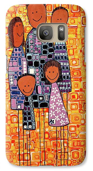 Galaxy Case featuring the painting Family Portrait by Donna Howard