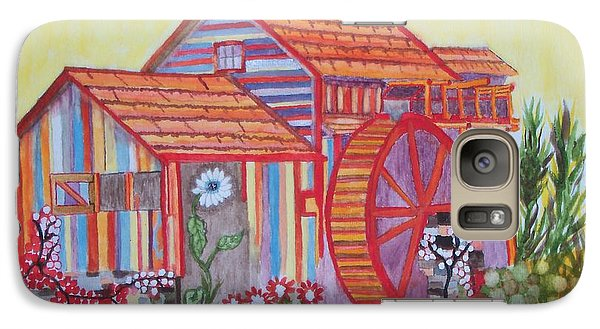 Galaxy Case featuring the painting Fanasty Waterwheel by Connie Valasco