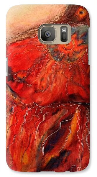 Galaxy Case featuring the painting Fancy Shawl Dancer by FeatherStone Studio Julie A Miller