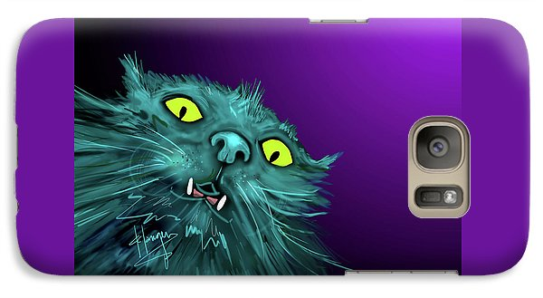 Galaxy Case featuring the painting Fang Dizzycat by DC Langer
