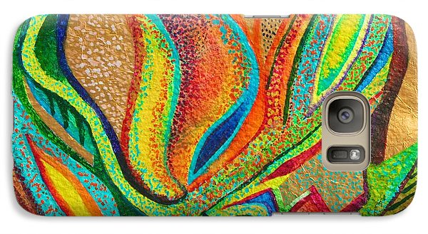 Galaxy Case featuring the painting Fanning Flames by Polly Castor