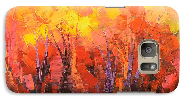 Galaxy Case featuring the painting Fantastic Fire by Tatiana Iliina