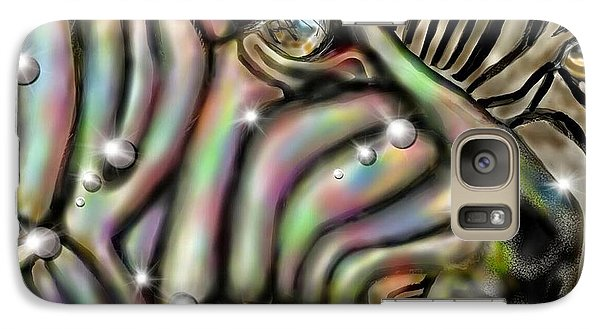 Galaxy Case featuring the digital art Fantastic Zebra by Darren Cannell
