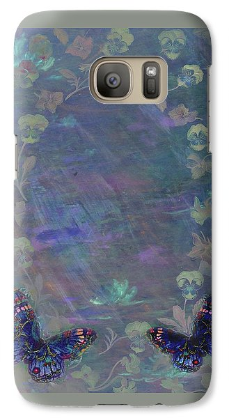 Galaxy Case featuring the painting Fantasy Butterfly Painted Pansy by Judith Cheng