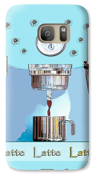 Galaxy Case featuring the painting Fantasy Espresso Machine by Marian Cates