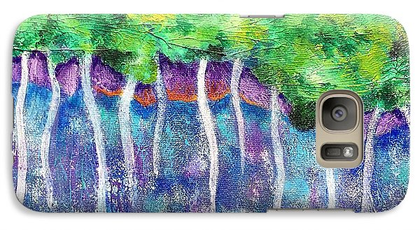 Galaxy Case featuring the painting Fantasy Forest by Elizabeth Fontaine-Barr