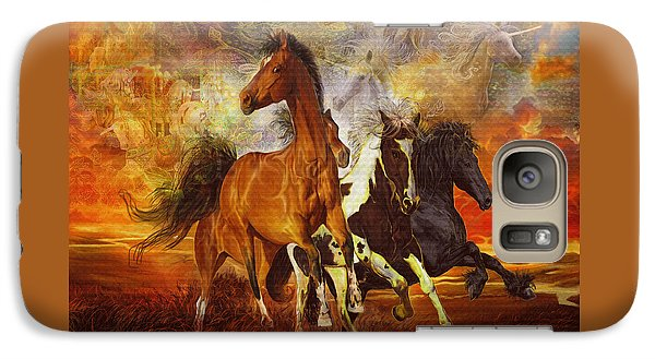 Galaxy Case featuring the painting Fantasy Horse Visions by Steve Roberts
