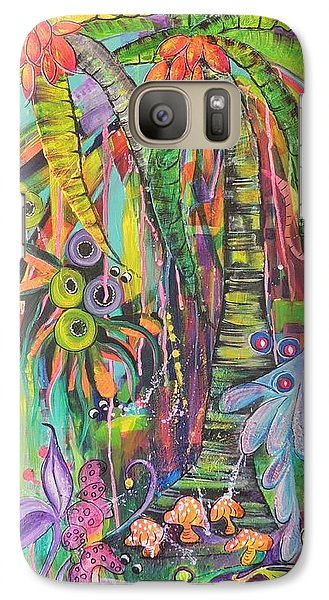 Galaxy Case featuring the painting Fantasy Rainforest by Lyn Olsen