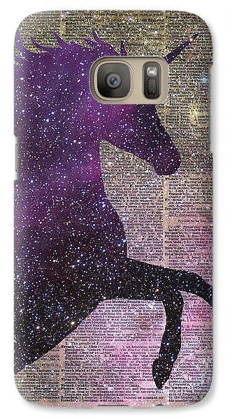 Fantasy Unicorn In The Space Galaxy S7 Case