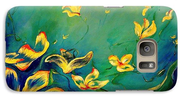Galaxy Case featuring the painting Fantasy World by Teresa Wegrzyn