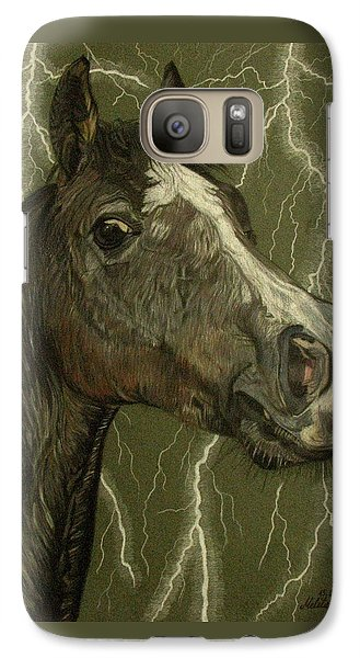Galaxy Case featuring the drawing Fantasy Xanthus by Melita Safran